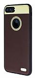Hojar iPhone 7 Plus Deri Kahverengi Rubber Kılıf