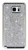 Hojar Samsung Galaxy Note 5 Taşlı Gold Rubber Kılıf