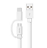 Honor Micro USB & Type-C Beyaz Data Kablosu 1.5m