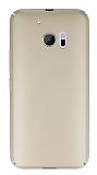 HTC 10 Tam Kenar Koruma Gold Rubber Kılıf