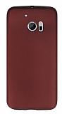 HTC 10 Mat Bordo Silikon Kılıf