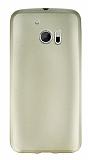 HTC 10 Mat Gold Silikon Kılıf
