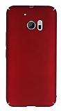 HTC 10 Tam Kenar Koruma Bordo Rubber Kılıf