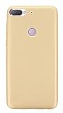 HTC Desire 12 Plus Mat Gold Silikon Kılıf