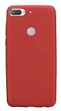 HTC Desire 12 Plus Mat Kırmızı Silikon Kılıf