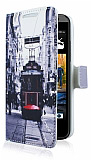 HTC Desire 300 Taksim C�zdanl� Yan Kapakl� K�l�f