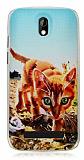 HTC Desire 500 Cat Kedi Sert Rubber K�l�f
