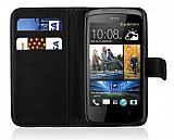 HTC Desire 500 C�zdanl� Siyah K�l�f