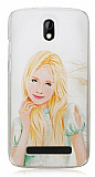 HTC Desire 500 Girl Sert Rubber K�l�f