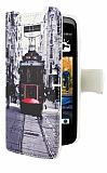 HTC Desire 500 Taksim C�zdanl� Yan Kapakl� K�l�f