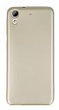 HTC Desire 626 Mat Gold Silikon Kılıf