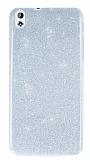 HTC Desire 816 Simli Silver Silikon Kılıf