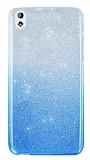 HTC Desire 816 Simli Mavi Silikon Kılıf