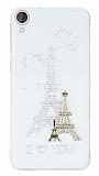 HTC Desire 820 Ta�l� Paris �effaf Silikon K�l�f