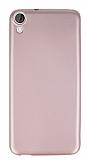 HTC Desire 820 Mat Rose Gold Silikon Kılıf
