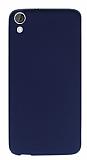 HTC Desire 820 Mat Lacivert Silikon Kılıf