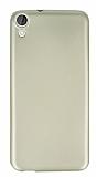 HTC Desire 820 Mat Gold Silikon Kılıf