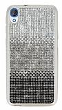 HTC Desire 820 Taşlı Geçişli Siyah Silikon Kılıf