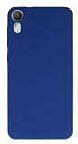 HTC Desire 825 / Desire 10 Lifestyle Tam Kenar Koruma Lacivert Rubber Kılıf