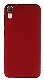 HTC Desire 825 / Desire 10 Lifestyle Tam Kenar Koruma Bordo Rubber Kılıf
