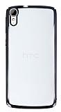 HTC Desire 828 Siyah Kenarlı Şeffaf Rubber Kılıf