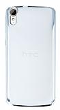 HTC Desire 828 Silver Kenarlı Şeffaf Rubber Kılıf