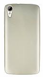 HTC Desire 828 Mat Gold Silikon Kılıf