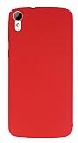 HTC Desire 828 Tam Kenar Koruma Kırmızı Rubber Kılıf