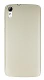 HTC Desire 828 Tam Kenar Koruma Gold Rubber Kılıf