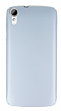 HTC Desire 828 Tam Kenar Koruma Silver Rubber Kılıf