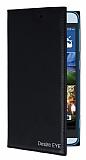 HTC Desire Eye Gizli Mıknatıslı Cüzdanlı Siyah Deri Kılıf