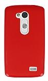 LG L Fino Kırmızı Silikon Kılıf
