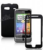 HTC Desire Z �iftli Siyah Rubber K�l�f