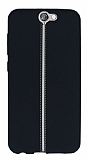 HTC One A9 Kadife Dokulu Siyah Silikon Kılıf