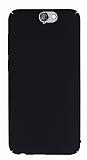 HTC One A9 Tam Kenar Koruma Siyah Rubber Kılıf
