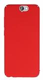 HTC One A9 Tam Kenar Koruma Kırmızı Rubber Kılıf