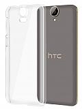 HTC One E9 Plus Şeffaf Kristal Kılıf