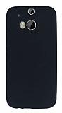 HTC One M8 Mat Siyah Silikon Kılıf