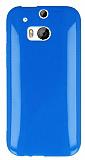 HTC One M8 Mavi Silikon Kılıf