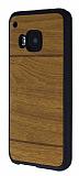 HTC One M9 Ah�ap G�r�n�ml� Sar� Rubber K�l�f