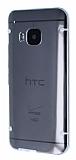 HTC One M9 Beyaz Silikon Kenarl� �effaf Rubber K�l�f