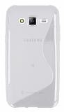 Samsung Galaxy J5 Desenli Şeffaf Silikon Kılıf