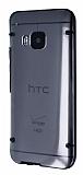 HTC One M9 Siyah Silikon Kenarl� �effaf Rubber K�l�f
