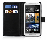 HTC One Mini C�zdanl� Siyah K�l�f
