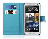 HTC One Mini Cüzdanlı Mavi Kılıf