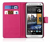 HTC One Mini C�zdanl� Pembe K�l�f