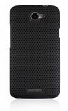 HTC One X Delikli Siyah K�l�f