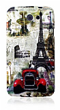HTC One X Eiffel Kulesi Silikon K�l�f