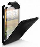 HTC One X Kapakl� Siyah Deri K�l�f