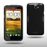 HTC One X �effaf Siyah Silikon K�l�f